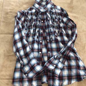Lightweight Seven Brand flannel style!